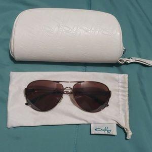 Rose Gold Polarized Oakley Aviators Sunglasses